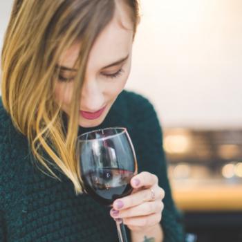 Woman Drinking Alcohol Ruins Sleep