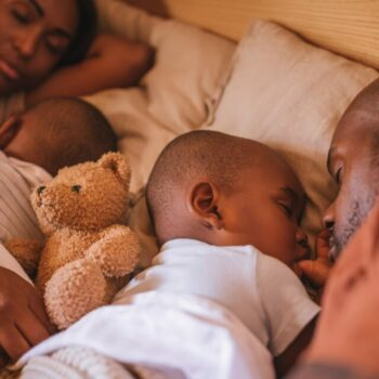 Family Sleeping At Night